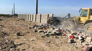 ساخت و سازهای غیرمجاز در زمین های کشاورزی توسکستان تخریب شد