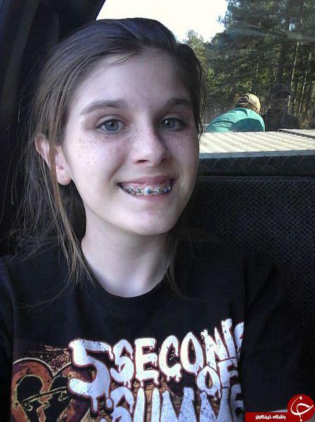 دختری که عجیب ترین سلفی جهان را گرفت + عکس