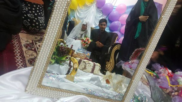 ازدواج وسط اردوی جهادی بسیج +عکس