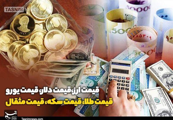 قیمت طلا، قیمت دلار، قیمت سکه و قیمت ارز امروز ۹۸/۱۱/۲۶| کاهش جزئی قیمت دلار و سکه در بازار