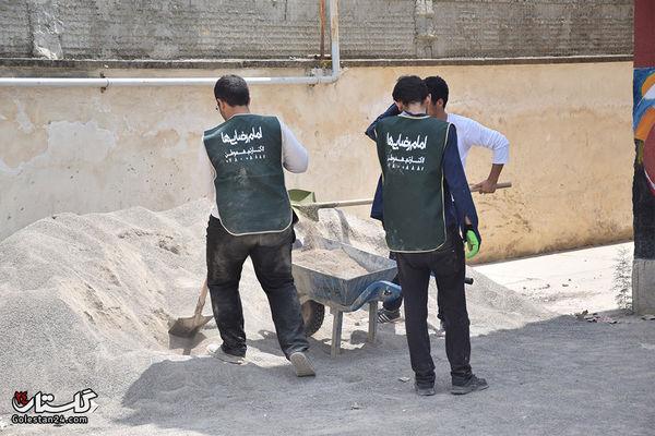 جهادگران وبسیجیان در حال بازسازی مدارس و منازل  سیل زده هستند+تصاویر
