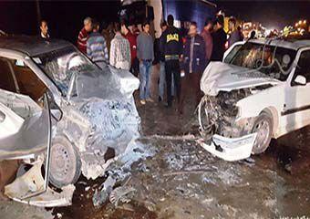 پنج کشته و زخمی در تصادف مرگبار پژو و پراید در گالیکش + تصاویر