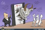 کاریکاتور/ شاخ زدن کنگره آمریکا به روح برجام