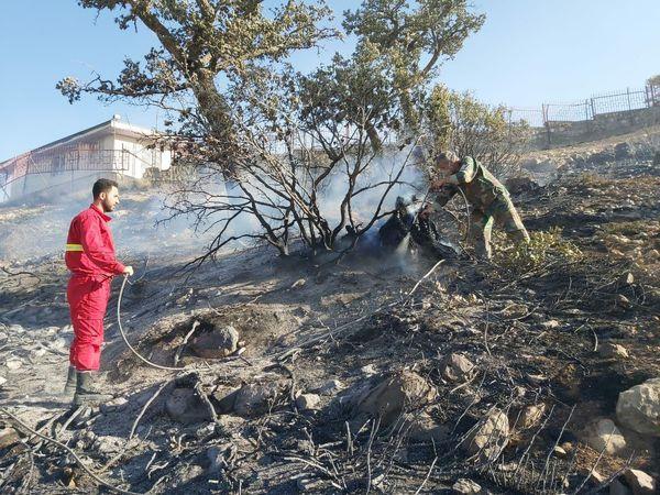 آتش سوزی درازنو به طور کامل مهار شد/ امکان استفاده از بالگرد نداشتیم