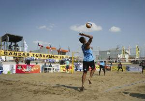تورجهانی والیبال ساحلی در بندرترکمن