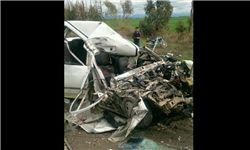 مرگ 2 جوان در محور آققلا به گنبد کاووس / مرگ 13 مسافر در نوروز 95