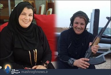 بانوی شجاع عراقی لحظاتی قبل از شهادت + تصاویر