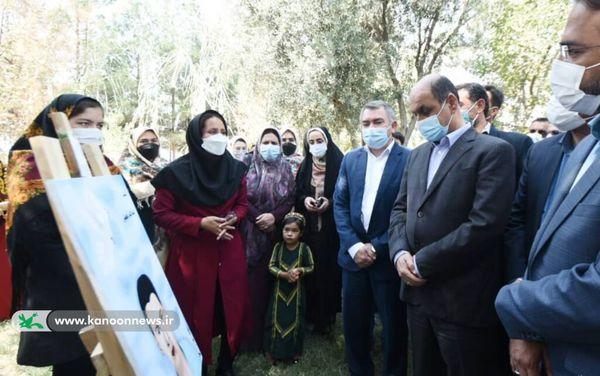 نمایشگاه هنرمندان نوجوان کانون مراوه تپه در حضور استاندار گلستان