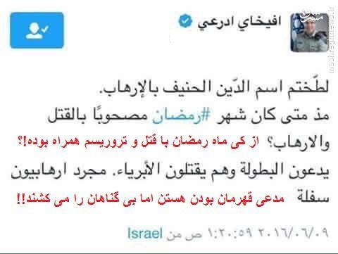 هذیان گویی سخنگوی عرب زبان ارتش اسراییل+ عکس