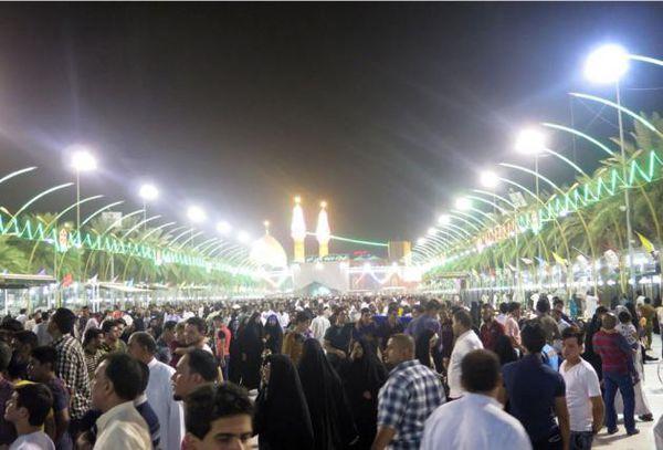 بینالحرمین در شب میلاد امام حسین (ع)+تصاویر