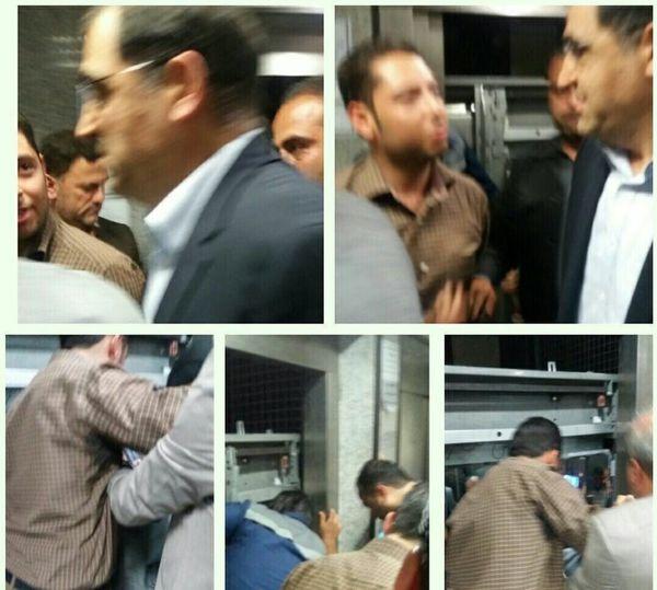 ماجرای گیر کردن «وزیر بهداشت» در آسانسور بیمارستان مصطفی خمینی طبس +عکس