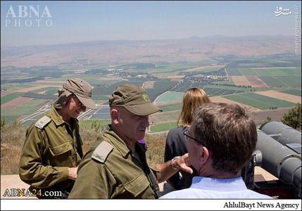 بازدید وزیر دفاع آمریکا از مواضع حزبالله در مرز لبنان +تصاویر