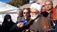 فیلم / حضور نماینده مقام معظم رهبری در مناطق زلزله زده