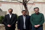 عکس/ کاشت نهال توسط احمدینژاد، بقایی و مشایی در روز درختکاری