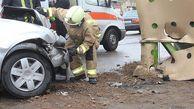 مصدومیت عابر پیاده درپی تصادف با خودرو تندر ۹۰