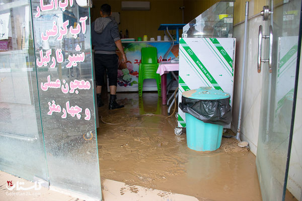سیلاب به ۵ منزل مسکونی در دو روستای مراوه تپه خسارت زد