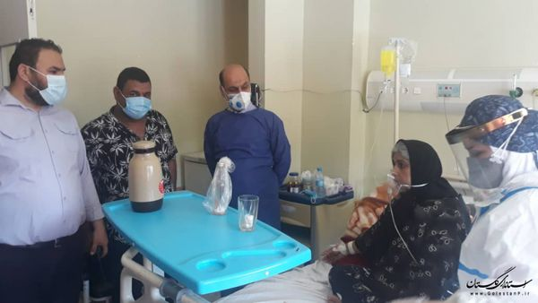 بازدید استاندار گلستان از مراکز درمانی شهرستان علی آباد کتول