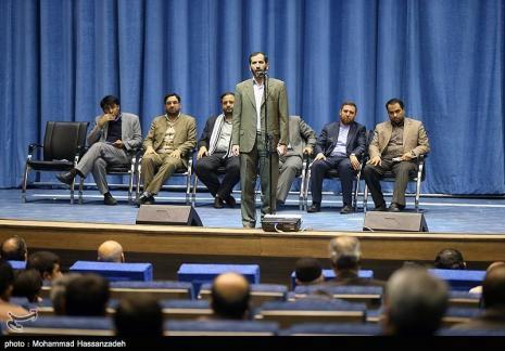 گزارشی از همایش صدای رویشهای انقلاب با حضور یامین پور و حداد عادل+تصاویر