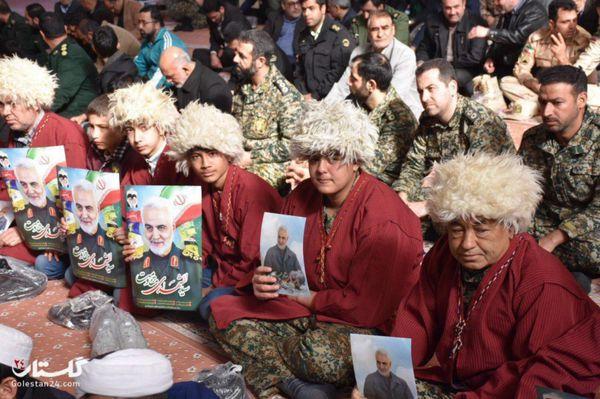 اربعین سید شهدای مقاومت، شهید حاج قاسم سلیمانی در گرگان+گزارش تصویری
