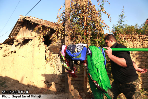 آئین «علم گردان» در روستای کفشگیری گرگان برگزار شد
