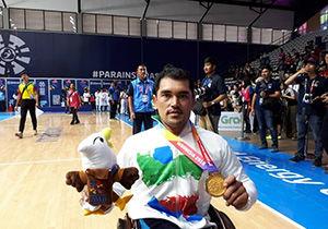 قهرمانی بسکتبالیست گلستانی درمسابقات پارا آسیایی