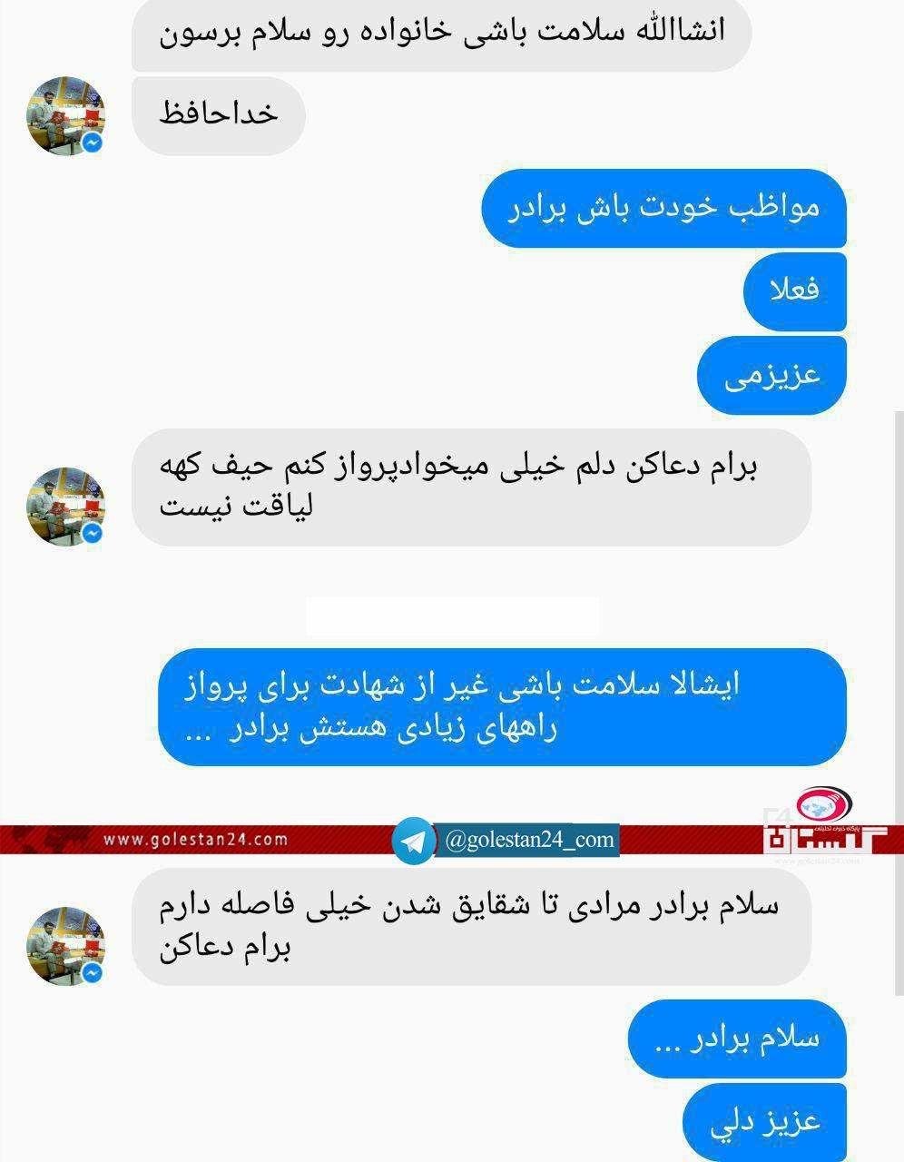 شهید خبرنگار ارزو پیامکی7