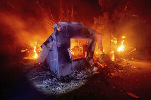فیلم/ گرفتاری فارسیزبانان در آتشسوزی کمپ پناهجویان