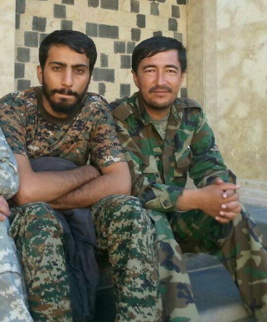 دو شهید مدافع حرم در یک قاب