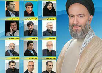 حمایت بزرگ 15 کاندیدای دور اول انتخابات گرگان از سید علی طاهری + عکس