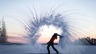 فیلم/ یخ زدن آب داغ