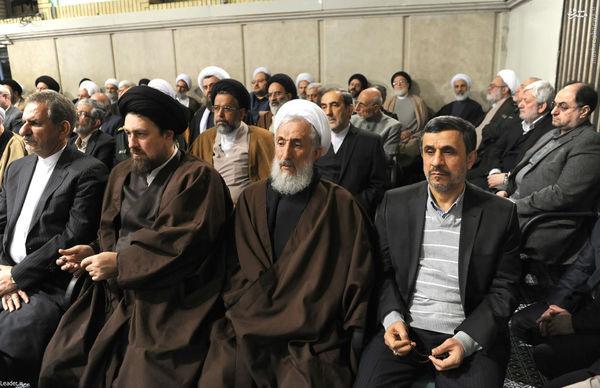 عکس/ احمدی نژاد در دیدار امروز رهبری