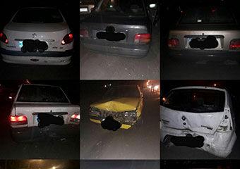 تصادف زنجیره ای در محدوده روستای نودیجه گرگان + تصاویر