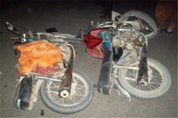 تصادف مرگبار بر اثر تصادف سه دستگاه موتورسیکلت