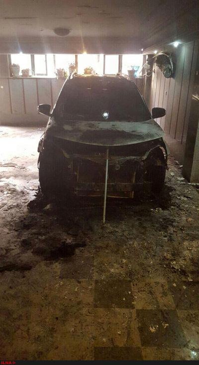 آتش زدن خودرو مسعود نمازی