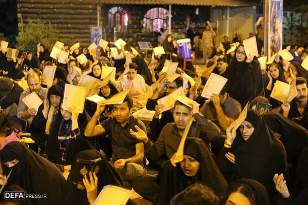 مراسم سومین شب قدر در تپه نورالشهدا + تصاویر