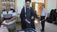 عکس/ حضور رئیس جبهه مردمی گلستان پای صندوق رای
