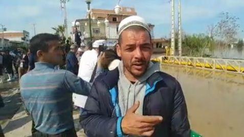 گلایه مردم سیل زده آق قلا از تخریب نکردن ریل قطار برای رهاسازی آب های جمع شده
