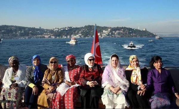 عکس/ همسر جهانگیری در ضیافت ناهار همسر اردوغان