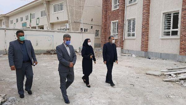 بازدید از پروژه مقاوم سازی آموزشگاه طالقانی و فضای مدرسه قدیم روستای آق قمیش گالیکش