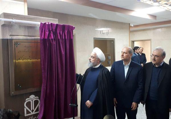 مرکز تروما و اورژانس ۱۵۲ تختخوابی شهید نبوی گرگان با حضور رئیس جمهور افتتاح شد