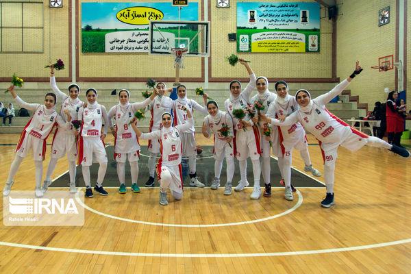 تیم گرگان قهرمانی گروه بهمن در لیگ برتر بسکتبال زنان را پذیرفت