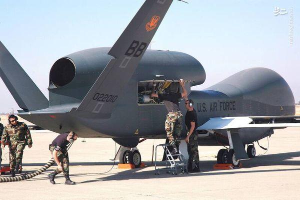 """سرنگونی پهپاد جاسوسی «پهپاد مدل """"تریتون MQ-4C""""» آمریکا"""