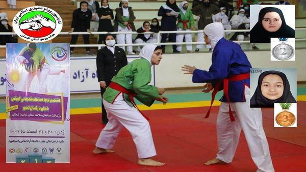 ۲ مدال نقره و برنز سهم دختران کوراش کار گلستانی از مسابقات قهرمانی کشور