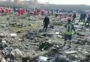 فیلم/ نمایی کلی از موقعیت سقوط هواپیمای اوکراینی