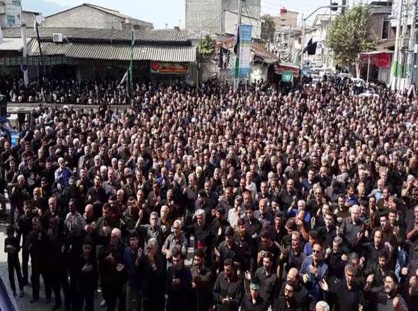 تجمع هیئت های عزاداری شهرستان بندرگز در روز عاشورا