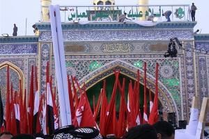 رونمایی از بابالقبله حرم حضرت عباس(ع) + فیلم و تصاویر