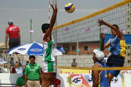 برگزاری مسابقات والیبال ساحلی قهرمانی امیدهای استان در گلستان