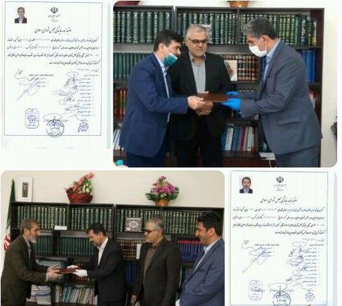 تحویل اعتبارنامه نمایندگی به منتخبین یازدهمین دوره انتخابات مجلس شورای اسلامی در گرگان