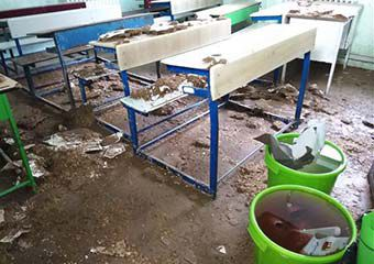 خسارت سیل به مدارس گلستان در آستانه ماه مهر ! + تصاویر
