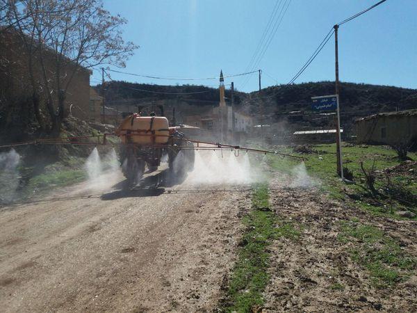 ضدعفونی کردن روستای التی اغاج بزرگ/تصاویر